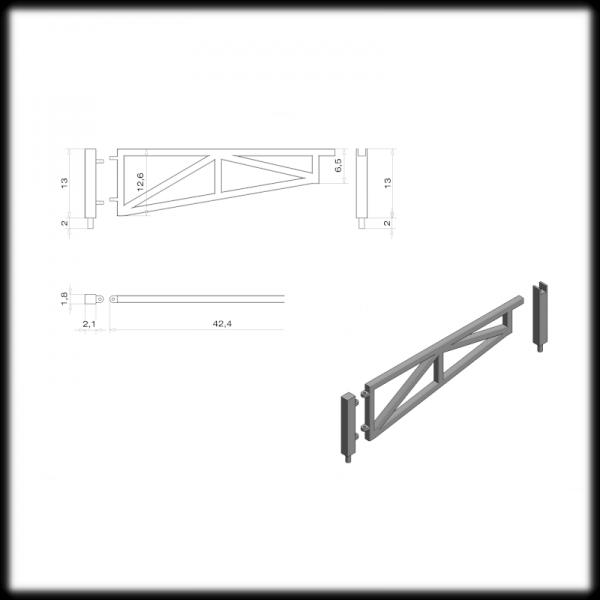 Single Swing Gate 3000mm