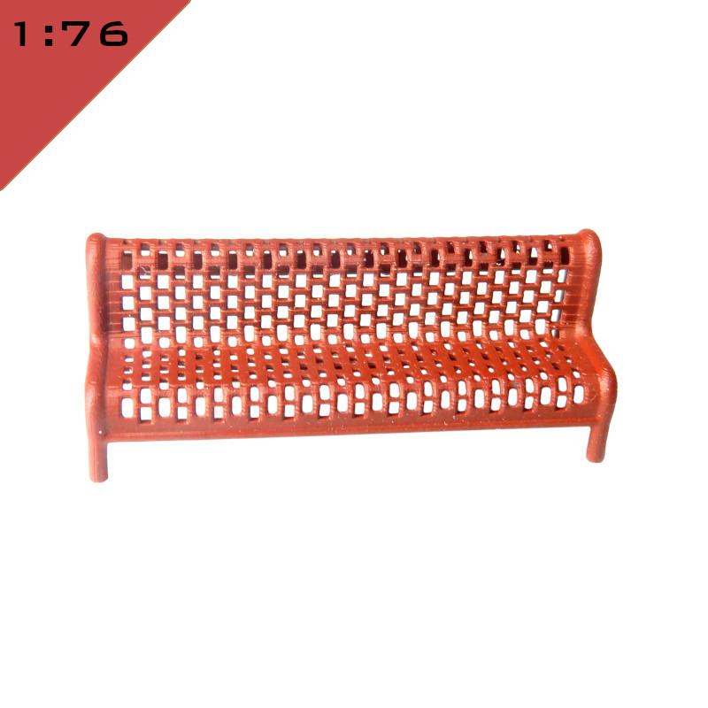 Mesh Metal Platform Bench