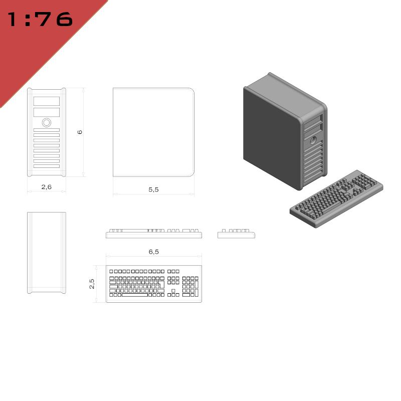 PC Case & Keyboard