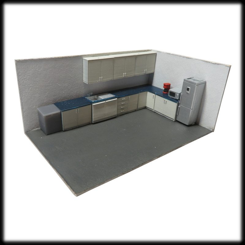 Kitchen furniture set 1:76