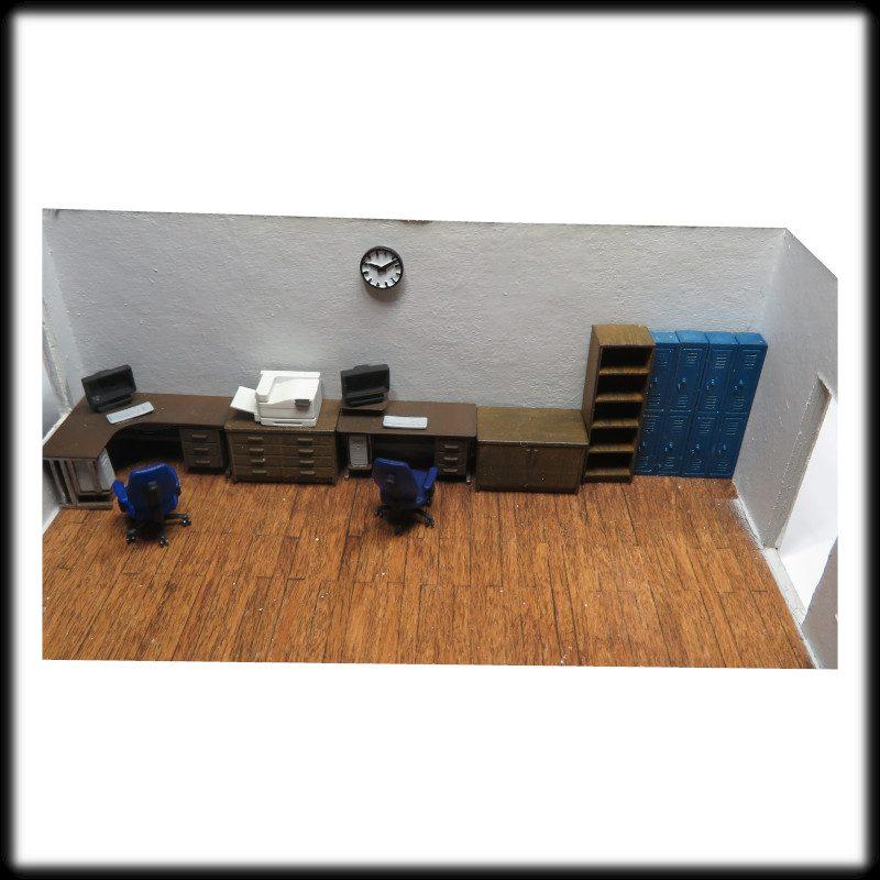 Office furniture set 1:76