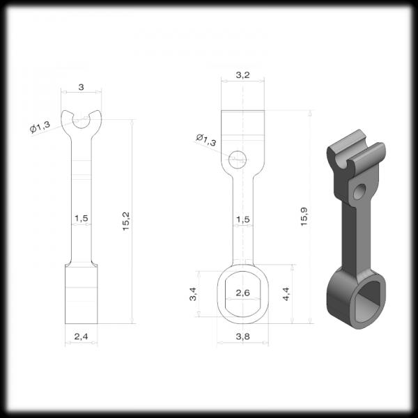 Overhead Power Supply Mast Link (S.5866)