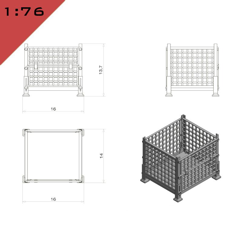 Mesh Panels Stillage Container