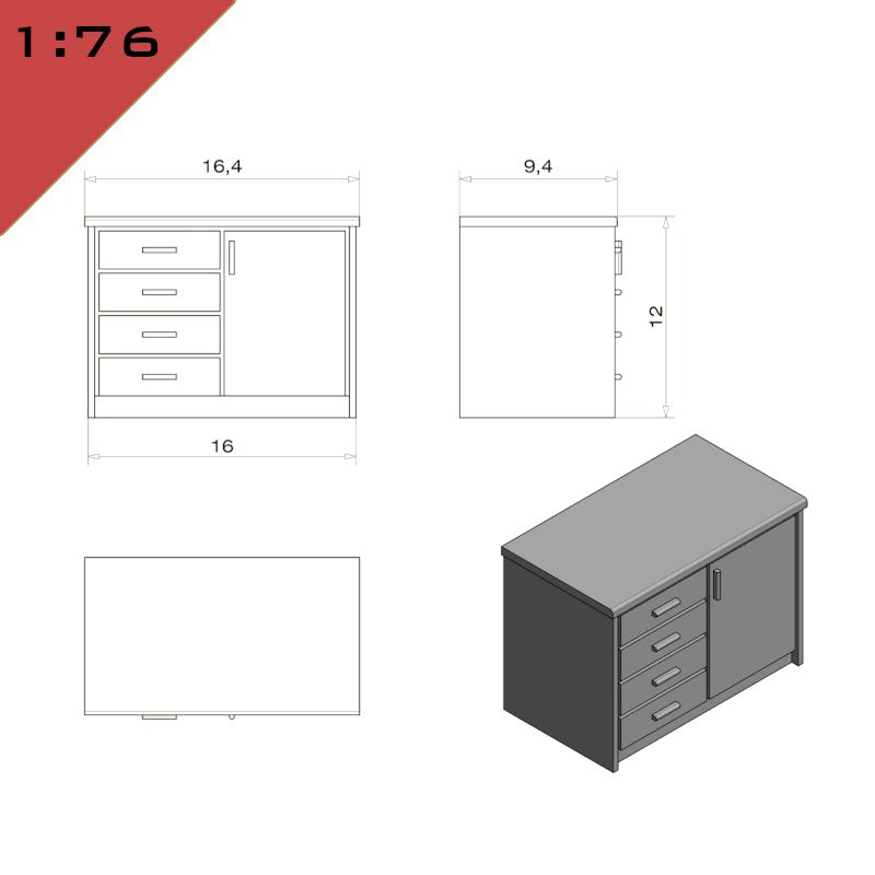 Kitchen Cupboard & Drawer Unit