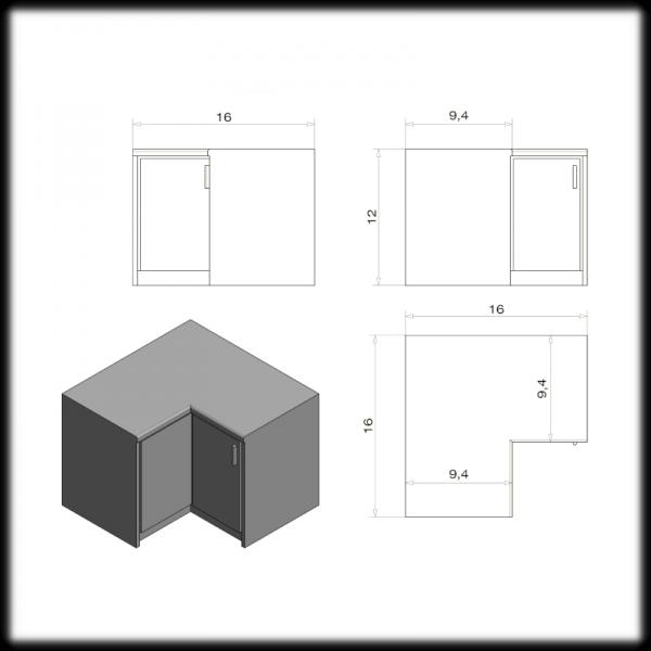 Kitchen Corner Cupboard Unit