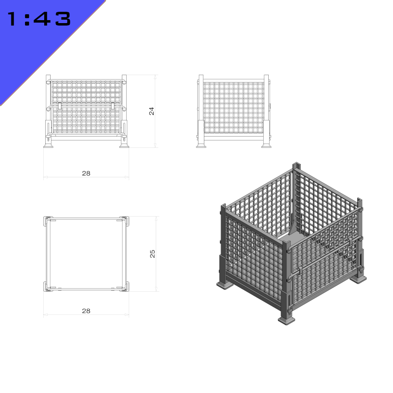 Mesh Panel Stillage Container